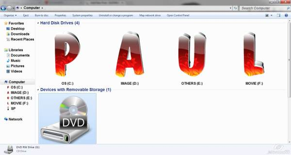 HOW TO CHANGE HARD DISK DRIVES ICONS