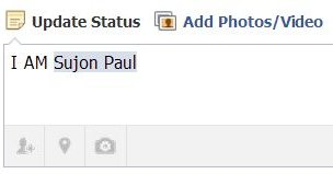 How to add friends in facebook status