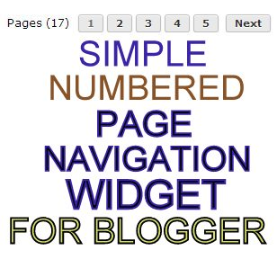 Numbered Page Navigation Widget for Blogger
