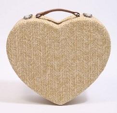 love heart vanity bag
