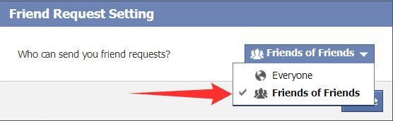 Limit Facebook Friends Request from anyone