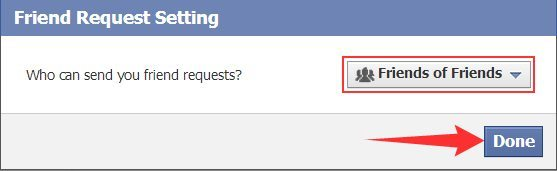 How can I limit Facebook Friends Request