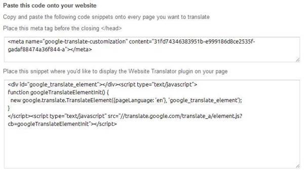 How to add Google Website Translator to your blog or website