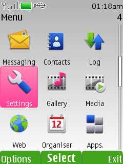 How to change Nokia S40 wallpapers automatically