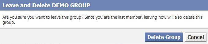 REMOVE AND DELETE FACEBOOK GROUP