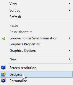 How To Get Gadgets Back in Windows 8