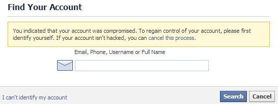 Get back hacked Facebook Account