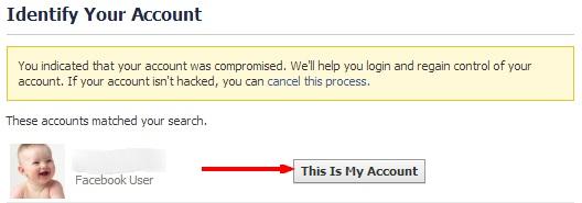 Facebook Account regain