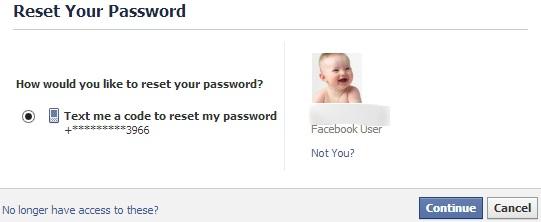Regain Facebook