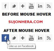 Slide On Hover Social Subscription Widget For Blogger & WordPress