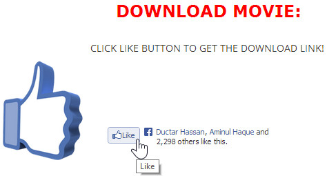 Facebook Like To Download Plugin For Blogger And WordPress