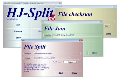 HJ-Split: How to Split and Join Large Files