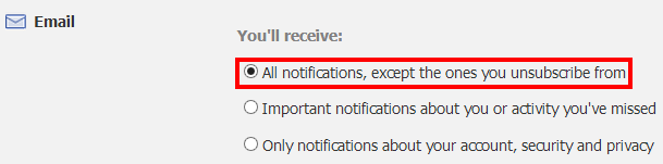How To Stop Receiving Facebook Notifications in Email Inbox