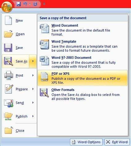 How To Save A Microsoft Office Word Document as PDF