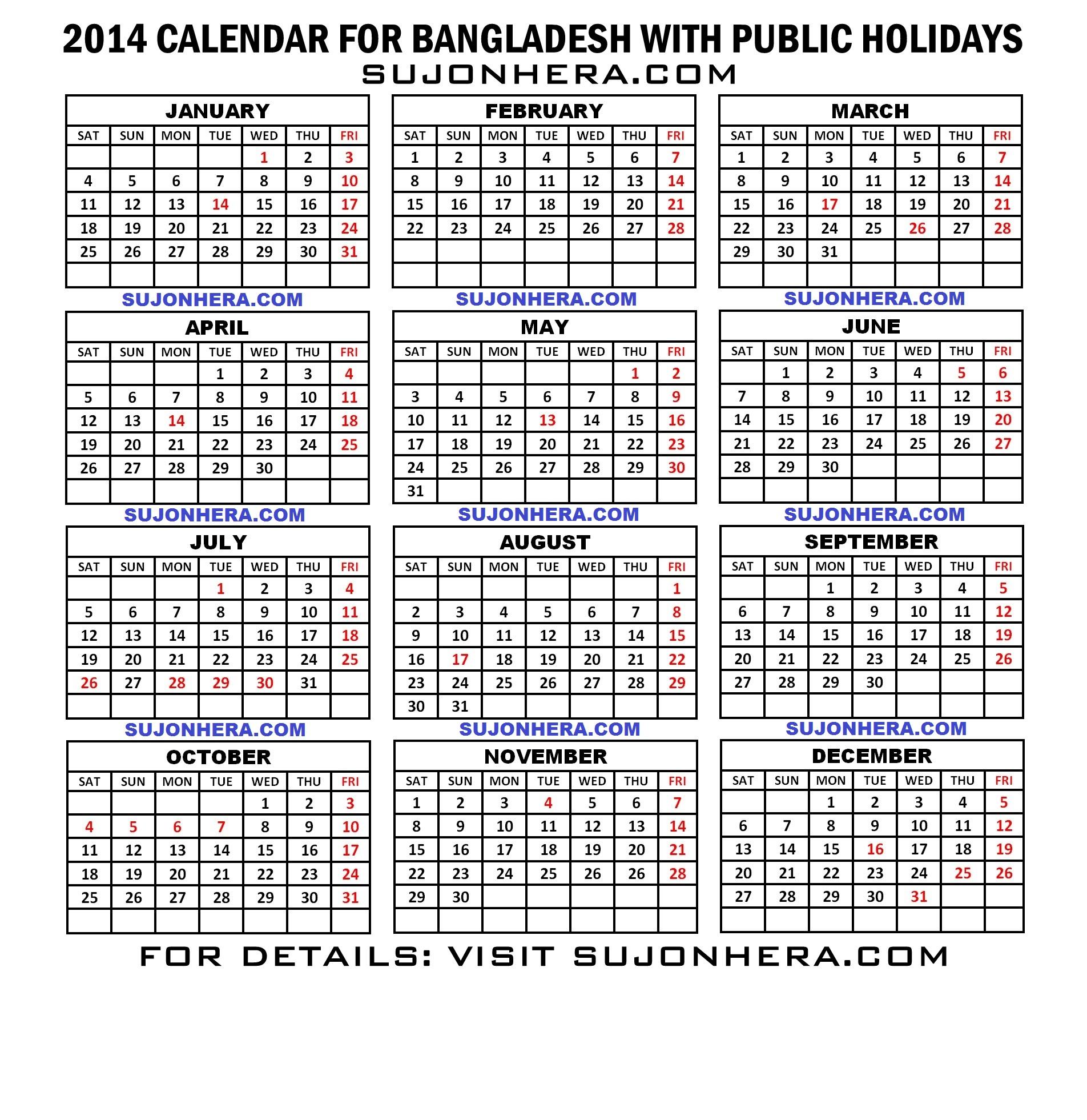 Calendar Bangladesh : Bd calendar pdf