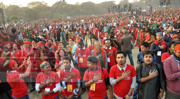 Bangladesh Made Guinness Record By Singing National Anthem