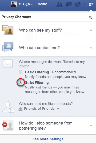 How To Block Facebook Message From Unknown Persons