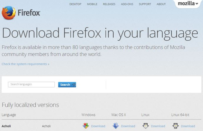 Mozilla Firefox Offline Installer Direct Link
