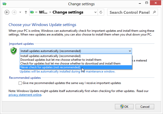 How To Disable Windows Update Parmanently