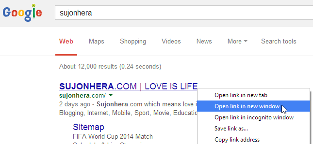 How To Open Google Search Results In New Tab