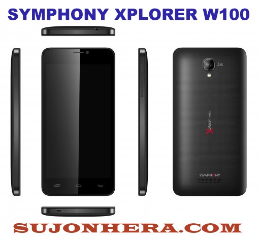 Symphony Xplorer W100 Android Full Specifications Price