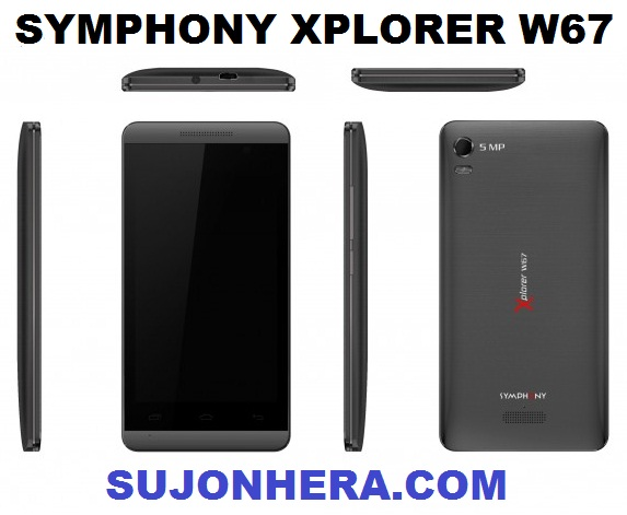 Symphony Xplorer W67 Full Phone Specifications & Price