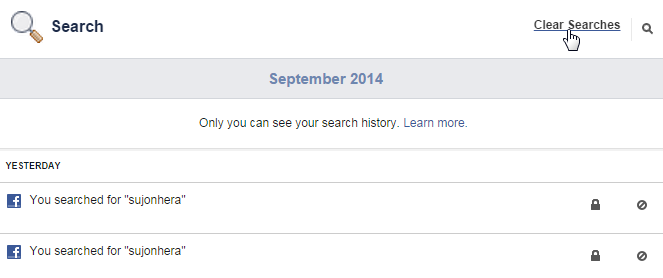 How To Delete Search History From Facebook