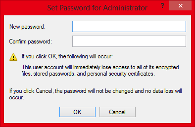 Change Windows Admin Password Without Knowing Old Password