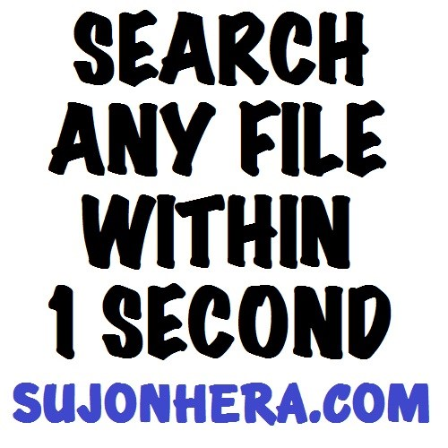 Search & Find Files On Your Computer Within 1 Second