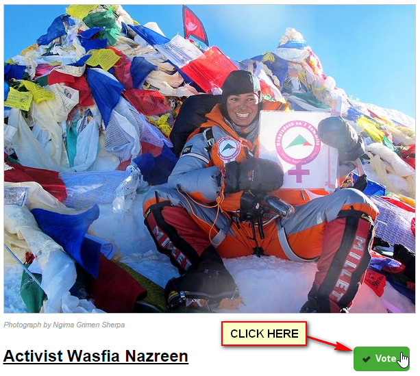Vote For Wasfia Nazreen National Geographic Channel
