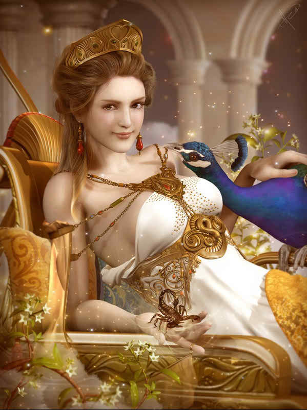 Hera The Goddess Of Love, Marriage; The Queen Of Heaven