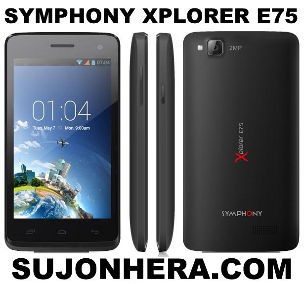Symphony Xplorer E75 Full Phone Specifications & Price