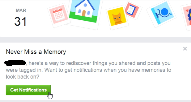 On This Day Activity Reminder Notification By Facebook