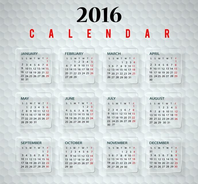 2016 Calendar SUJONHERA.COM
