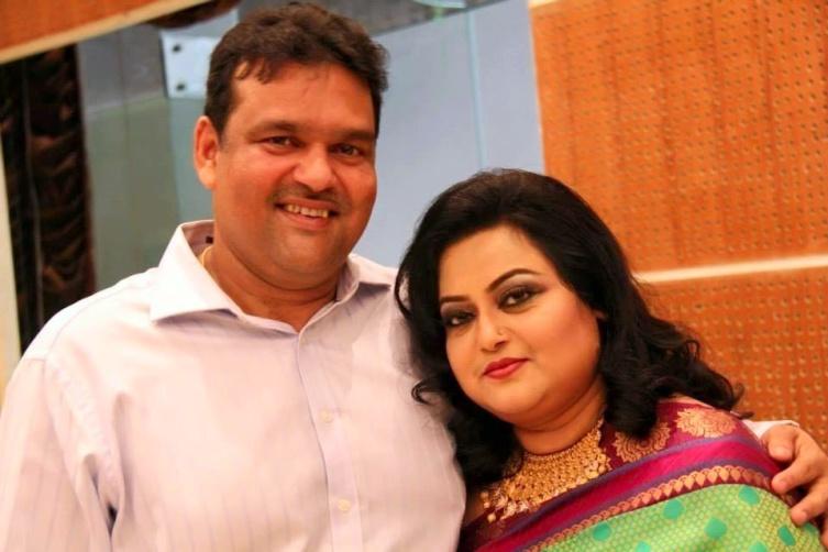 Akram Khan Bangladeshi Cricketer with his wife Sabina
