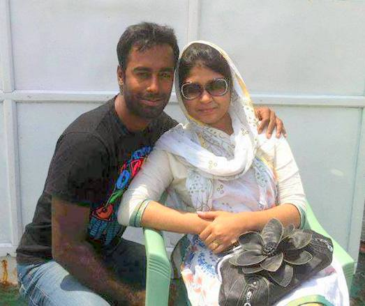Elius Sunny Bangladeshi Cricketer with his wife
