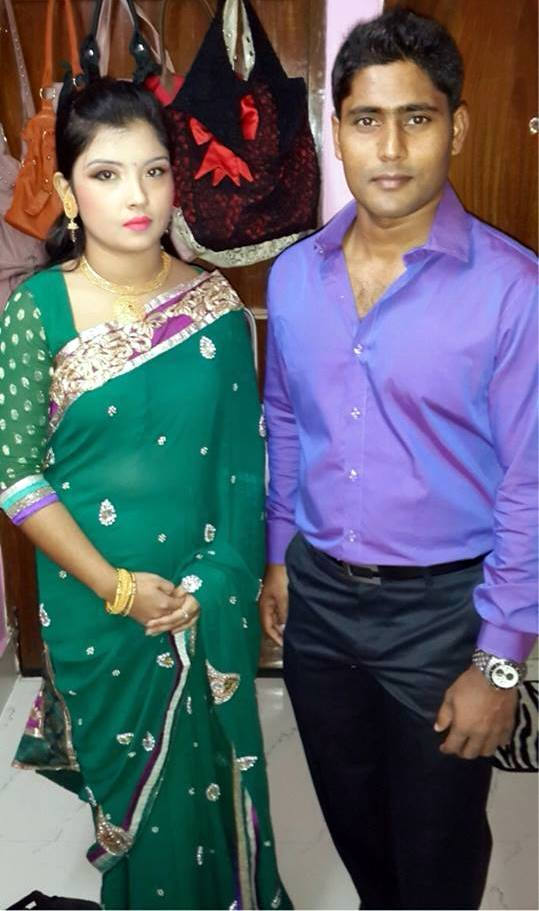 Imrul Kayes Bangladeshi Cricketer with his wife
