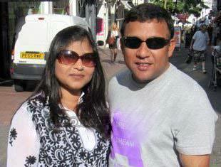 Khaled Mahmud Sujon Bangladeshi Cricketer with his wife