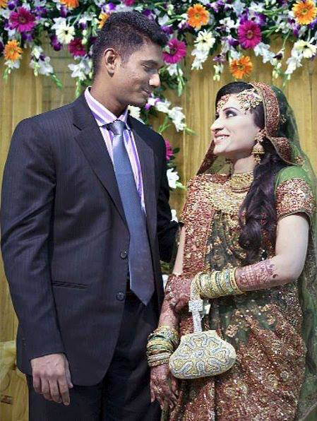 Mahmudullah Riyad Bangladeshi Cricketer with his wife Misty