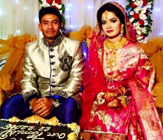 Mohammad Sharif Bangladeshi Cricketer with his wife Rima