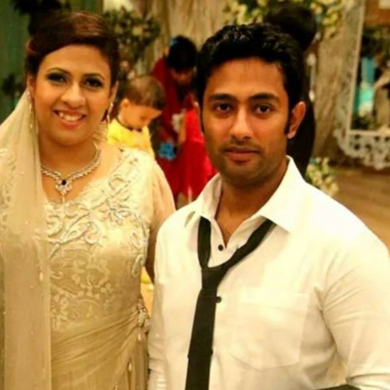 Nafis Iqbal Bangladeshi Cricketer with his wife Eva