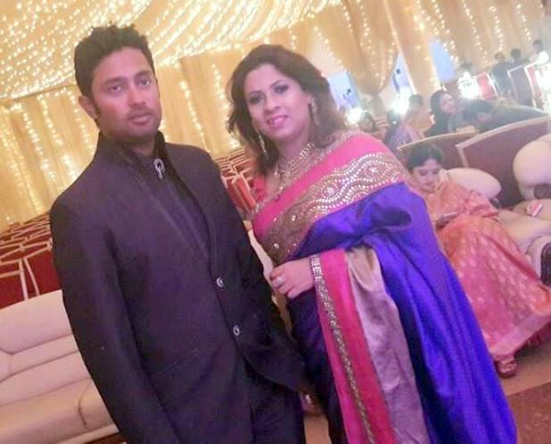 Nafis Iqbal Bangladeshi Cricketer with his wife Eva