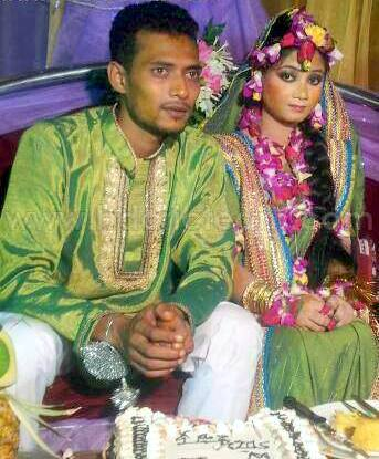 Shafiul Islam Bangladeshi Cricketer with his wife
