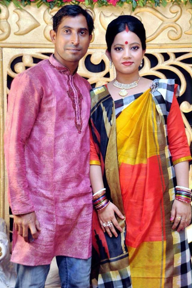 Tapash Baisya Bangladeshi Cricketer with his wife Sumitra