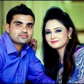 Ziaur Rahman Bangladeshi Cricketer with his wife