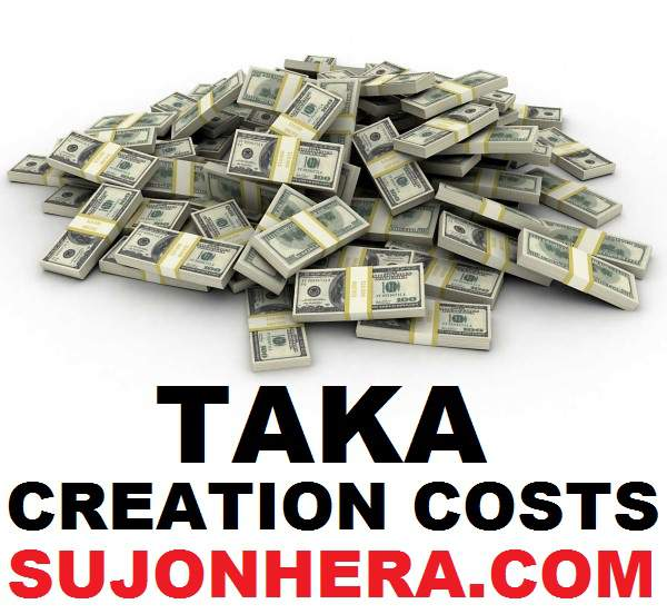 Money Creation How Much It Cost To Print Bangladeshi Taka