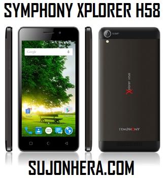Symphony Xplorer H58 Full Phone Specifications & Price