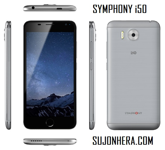 Symphony i50 Full Android Phone Specifications & Price