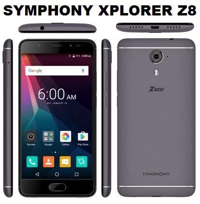 Symphony Xplorer ZVIII Full Phone Specifications & Price