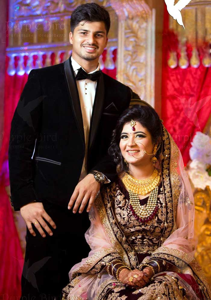 Nurul Hasan Sohan Bangladeshi Cricketer with his wife